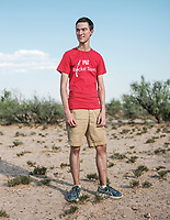 Charlie Garcia with MIT at the Spaceport America Cup near the town of Truth or Consequences, New Mexico, Friday, June 23, 2017. The International Intercollegiate Rocket Engineering Competition hosted over 110 teams from colleges and universities in eleven countries. Students launched solid, liquid, and hybrid rockets to target altitudes of 10,000 and 30,000 feet. The 2017 Spaceport America Cup winner was the University of Michigan, Ann Arbor, Team 79.<br /> <br /> Photo by Matt Nager