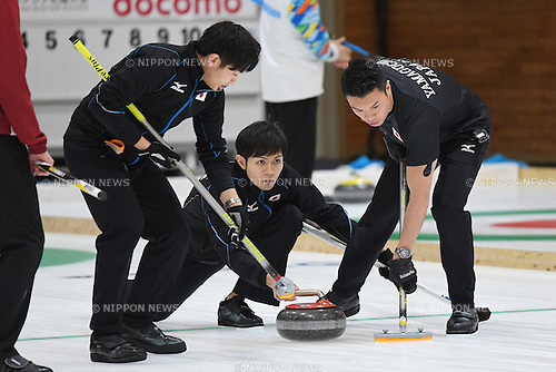 Yusuke Morozumi (JPN), <br /> FEBRUARY 18, 2017 - Curling : <br /> Men's Round Robin match between<br /> Japan 19-1 Qatar <br /> during the 2017 Sapporo Asian Winter Games <br /> at Sapporo Curling Stadium in Hokkaido, Japan. <br /> (Photo by AFLO SPORT)