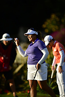 Lizette Salas (USA) waves after making her final putt on the 18th green during the Final Round at the Kia Classic,Park Hyatt Aviara Resort, Golf Club &amp; Spa, Carlsbad, California, USA. 3/25/18.<br /> Picture: Golffile | Bruce Sherwood<br /> <br /> <br /> All photo usage must carry mandatory copyright credit (&copy; Golffile | Bruce Sherwood)