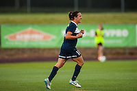 Sky Blue FC forward Lisa De Vanna (11) celebrates scoring. Sky Blue FC defeated the Boston Breakers 5-1 during a National Women's Soccer League (NWSL) match at Yurcak Field in Piscataway, NJ, on June 1, 2013.