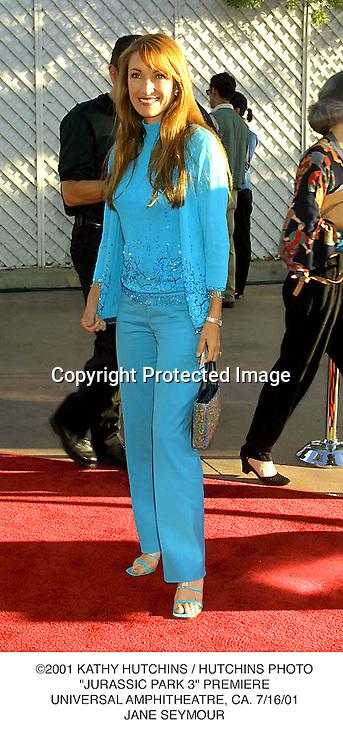 "©2001 KATHY HUTCHINS / HUTCHINS PHOTO.""JURASSIC PARK 3"" PREMIERE.UNIVERSAL AMPHITHEATRE, CA. 7/16/01.JANE SEYMOUR"