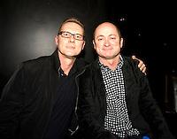 John Hoey and Dave Faulkner backstage at the EG Awards