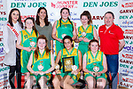 The Kerry Blue team that won the u14 Girls final at the St Marys Basketball Blitz on Saturday Sarah Taylor, Tania Salvado, Shonagh Fitzpatrick, Back row:  Leanne Cahill-O'Connor Miss Basketball Roisin Smith, Montse Salvado, Rachel Murphy, Maeve Coleman Horgan, Tommy O'Connor coach