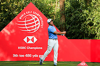 Francesco Molinari (ITA) on the 9th tee during round 1 at the WGC HSBC Champions, Sheshan Golf Club, Shanghai, China. 31/10/2019.<br /> Picture Fran Caffrey / Golffile.ie<br /> <br /> All photo usage must carry mandatory copyright credit (© Golffile | Fran Caffrey)