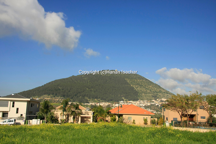 Israel, Jezreel valley. Mount Tabor as seen from Kfar Tavor