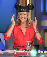 NEW YORK, NY-June 29: Lara Spencer host at Good Morning America  wearing Mouse Ears from Walt Disney China in New York. NY June 29, 2016. Credit:RW/MediaPunch