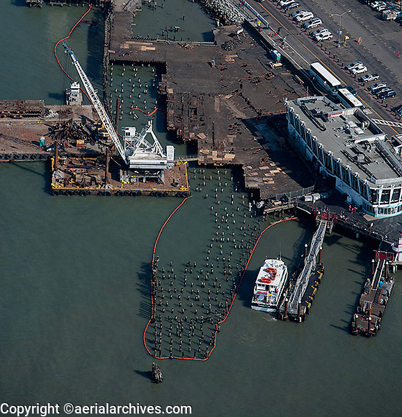 aerial photograph pier maintenance San Francisco, California