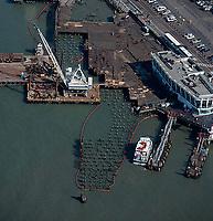 aerial photograph pier maintenance San Francisco, California