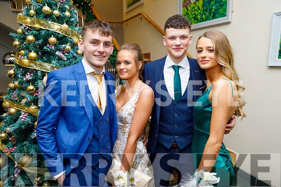 Caoimhín Finn, Patricia Griciute, Denis Horgan and Jane Doyle attending the Mercy Mounthawk Debs in the Ballyroe Heights Hotel on Friday.