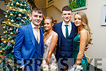 Caoimhín Finn, Patricia Griciute, Denis Horgan and Jane Doyle attending the Mercy Mounthawk Debs in the Ballyroe Heights Hotel on Friday.