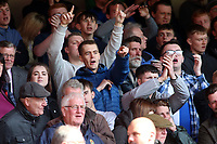Blackburn Rovers fans enjoy the atmosphere inside the City Ground<br /> <br /> Photographer David Shipman/CameraSport<br /> <br /> The EFL Sky Bet Championship - Nottingham Forest v Blackburn Rovers - Saturday 13th April 2019 - The City Ground - Nottingham<br /> <br /> World Copyright © 2019 CameraSport. All rights reserved. 43 Linden Ave. Countesthorpe. Leicester. England. LE8 5PG - Tel: +44 (0) 116 277 4147 - admin@camerasport.com - www.camerasport.com
