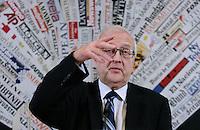 Germany's Economy Minister Rainer Bruederle gestures during a news conference in Rome November 16, 2010...Stampa Estera - Incontro con Rainer Bruederle, Ministro Tedesco dell'Economia..Roma, 16 Novembre 2010..Photo  Serena Cremaschi Insidefoto......