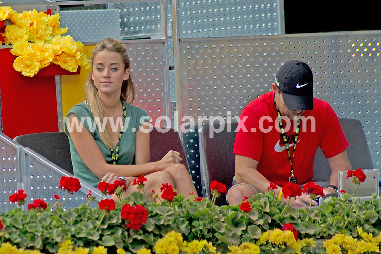 **ALL ROUND PICTURES FROM SOLARPIX.COM**                                             **WORLDWIDE SYNDICATION RIGHTS EXCEPT SPAIN - NO SYNDICATION IN SPAIN**                                                                                  Caption: Belgian tennis player Xavier Malisse plays in the Madrid Open whilst being watched by his girlfriend Shilla D'Armas. Madrid, Spain. 5 May 2011                                                                              This pic: Shilla D'Armas                                                                                    JOB REF: 13283 DMS Drake      DATE: 05_05_2011                                                           **MUST CREDIT SOLARPIX.COM OR DOUBLE FEE WILL BE CHARGED**                                                                      **MUST AGREE FEE BEFORE ONLINE USAGE**                               **CALL US ON: +34 952 811 768 or LOW RATE FROM UK 0844 617 7637**