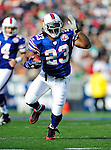 29 November 2009: Buffalo Bills running back Marshawn Lynch in action against the Miami Dolphins at Ralph Wilson Stadium in Orchard Park, New York. The Bills defeated the Dolphins 31-14. Mandatory Credit: Ed Wolfstein Photo