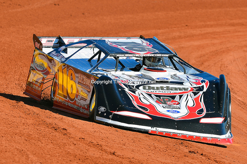 Feb 07, 2014; 11:38:53 AM; Waynesville, GA., USA; The Lucas Oil Late Model Dirt Series running The Georgia Boot Super Bowl of Racing at Golden Isles Speedway.  Mandatory Credit: (thesportswire.net)