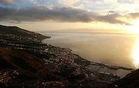 Santa Cruz de la Palma and harbour, capital of La Palma and the harbour, Canary Islands, Spain.