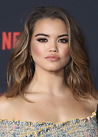 """WESTWOOD - OCTOBER 26: Paris Berelc at the premiere of Netflix's """"Stranger Things"""" Season 2 at the Regency Village Theatre on October 26, 2017 in Westwood, California. (Photo by Scott Kirkland/PictureGroup)"""