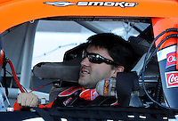 Nov. 7, 2008; Avondale, AZ, USA; NASCAR Sprint Cup Series driver Tony Stewart during qualifying for the Checker Auto Parts 500 at Phoenix International Raceway. Mandatory Credit: Mark J. Rebilas-