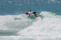 Kirra Point,  COOLANGATTA, Queensland/AUS (Thursday, March 15, 2018) Keely Andrew (AUS) - The first stop on the 2018 World Championship Tour (WCT), the Quiksilver and Roxy Pro Gold Coast, witnessed an incredible start to the season as Lakey Peterson (USA) and Julian Wilson (AUS) claimed victory today in extraordinary conditions at Kirra on the southern end of Gold Coast. <br /> <br /> Unpredictable performances and massive upsets shocked surfing&rsquo;s biggest stage at this year&rsquo;s season opener to remind the world that anything can happen on the Championship Tour. In addition to Peterson and Wilson taking the wins today, a new generation of surfers stepped up to showcase their progression, determination, and potential.  <br /> <br /> Photo: joliphotos.com