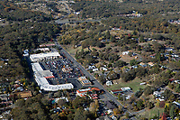 aerial photograph Safeway Plaza, 11th St, Lakeport, Lake County, California