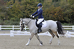 Class 6. Unaffiliated Dressage. Brook Farm training centre. Essex. 30/09/2017. MANDATORY Credit Garry Bowden/Sportinpictures - NO UNAUTHORISED USE - 07837 394578
