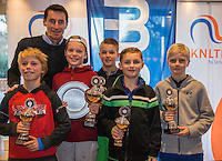 Hilversum, Netherlands, December 4, 2016, Winter Youth Circuit Masters, winners boys<br /> Photo: Tennisimages/Henk Koster