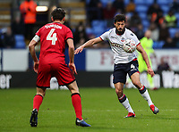 Bolton Wanderers' Jason Lowe competing with Walsall's George Dobson<br /> <br /> Photographer Andrew Kearns/CameraSport<br /> <br /> Emirates FA Cup Third Round - Bolton Wanderers v Walsall - Saturday 5th January 2019 - University of Bolton Stadium - Bolton<br />  <br /> World Copyright &copy; 2019 CameraSport. All rights reserved. 43 Linden Ave. Countesthorpe. Leicester. England. LE8 5PG - Tel: +44 (0) 116 277 4147 - admin@camerasport.com - www.camerasport.com