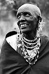 TANZANIA. Longido Mountain Area..August 3rd 2009..A Maasai women.