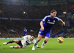 Chelsea's Branislav Ivanovic gives Everton's Bryan Oviedo the slip<br /> <br /> Barclays Premier League- Chelsea vs Everton  - Stamford Bridge - England - 11th February 2015 - Picture David Klein/Sportimage