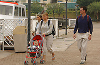 08-FEB-03 :  DANISH ROYALTY: DISCOVERY BAY HONG KONG<br /> Former Danish princess Alexandra with her former husband, prince Joachim and her children are Nikolai, 3, and Felix, born in July - with thier nany, take a stroll on the quayside at Discovery Bay in Hong Kong.