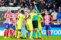 Getafe CF's Juan Cala have words with the referee Jose Luis Munuera Montero during La Liga match. January 6,2018. (ALTERPHOTOS/Acero) /NortePhoto.com NORTEPHOTOMEXICO