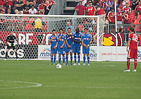 03 July 2013: Toronto FC defender Darren O'Dea #48 prepares to take a free kick during an MLS game between the Montreal Impact and Toronto FC at BMO Field in Toronto, Ontario Canada.<br /> The game ended in a 3-3 draw.