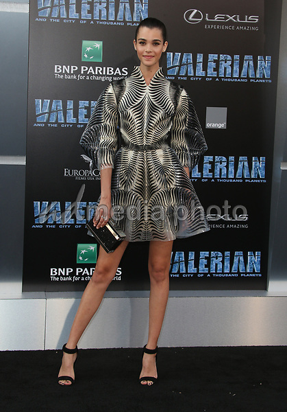 "17 July 2017 - Hollywood, California - Pauline Hoarau. ""Valerian and the City of a Thousand Planets"" World Premiere held at TCL Chinese Theatre. Photo Credit: AdMedia. Photo Credit: F. SadouAdMedia"