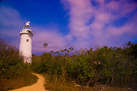 Lighthouse on Great Stirrup Cay  Grand Bahama Island, Bahamas  Caribbean Sea