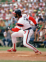 CIRCA 1985: Harold Baines #3 of the Chicago White Sox at bat during a game from his 1985 season with the Chicago White Sox.  Harold Baines played for 22 years with 5 different teams , was a 6-time All-Star. (Photo by: 1985 : SportPics : Harold Baines