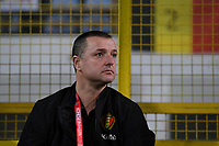 20191108 - Zapresic , BELGIUM : Belgian head coach Ives Serneels pictured during the female soccer game between the womensoccer teams of  Croatia and the Belgian Red Flames , the third women football game for Belgium in the qualification for the European Championship round in group H for England 2021, friday 8 th october 2019 at the NK Inter Zapresic stadium near Zagreb , Croatia .  PHOTO SPORTPIX.BE | DAVID CATRY