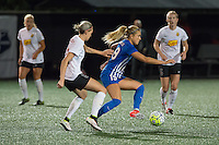 Allston, MA - Saturday Sept. 24, 2016: Alanna Kennedy, Kristie Mewis during a regular season National Women's Soccer League (NWSL) match between the Boston Breakers and the Western New York Flash at Jordan Field.