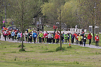 Nordic Walker im Mainvorland am HR4 Walking Day in Rüsselsheim