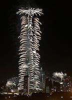 New Year Fireworks at Burj Khalifa in Dubai