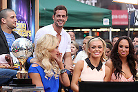 "Mark Ballas, William Levy, Peta Murgatroyd, Katherine Jenkins and Cheryl Burke from ""Dancing With the Stars"" Season 14 outside ABC's ""Good Morning America"" Times Square studio in New York, 23.05.2012..Credit: Rolf Mueller/face to face / Mediapunchinc"