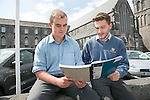 Michael Kelly &amp; Aaron Hackett student from St Clement School pictured after the Leaving Cert Irish Exams<br /> Picture  Credit Brian Gavin Press 22