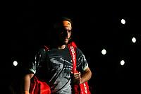 1st November 2019, AccorHotels Arena, Bercy, Paris, France; Rolex Paris Masters tennis tournament;  Stefanos Tsitsipas (GRE) arrives on court