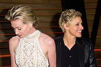 Ellen DeGeneres & Portia De Rossi arriving for the 2014 Vanity Fair Oscars Party, Los Angeles. 02/03/2014 Picture by: James McCauley/Featureflash