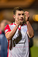 30th November 2019; Dens Park, Dundee, Scotland; Scottish Championship Football, Dundee Football Club versus Queen of the South; Darren Brownlie of Queen of the South applauds the fans at the end of the match - Editorial Use
