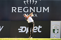 Richard McEvoy (ENG) tees off the 18th tee during Friday's Round 2 of the 2018 Turkish Airlines Open hosted by Regnum Carya Golf &amp; Spa Resort, Antalya, Turkey. 2nd November 2018.<br /> Picture: Eoin Clarke | Golffile<br /> <br /> <br /> All photos usage must carry mandatory copyright credit (&copy; Golffile | Eoin Clarke)