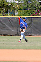 Franklin Labour Tejada participates in the International Prospect League Showcase at the New York Yankees academy in Boca Chica, Dominican Republic on January 24, 2014 (Bill Mitchell)
