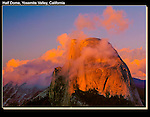 Half Dome at sunset, a very famous rock climb, Yosemite National Park, California. John offers private photo tours in Yosemite National Park and throughout California and Colorado. Year-round.