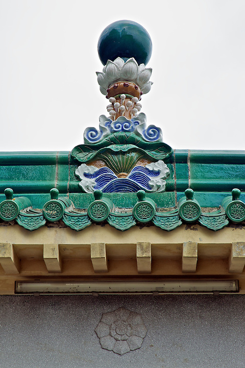 Detail on the main gate.