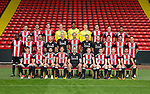 Sheffield Utd team group during the 2017/18 Photocall at Bramall Lane Stadium, Sheffield. Picture date 7th September 2017. Picture credit should read: Sportimage