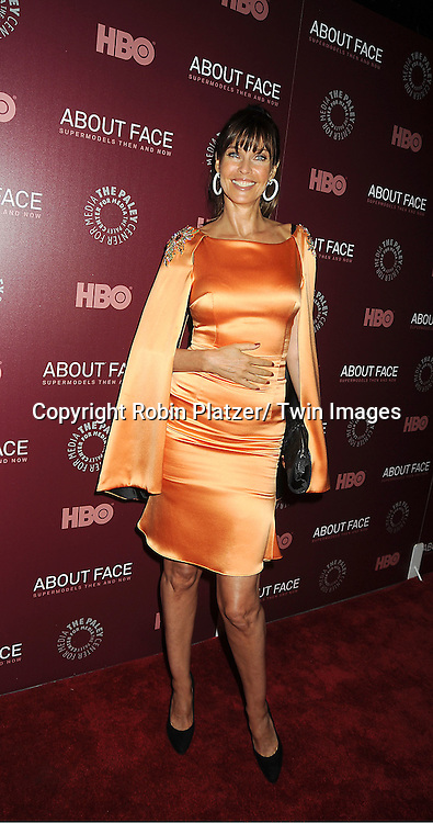 """model  Carol Alt  attend the New York Premiere of  HBO's """"About Face: Supermodels Then and Now"""" on July 17, 2012 at The Paley Center for Media in New York City. This was filmed by Timothy Greenield-Sanders."""